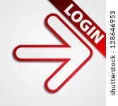 Login button - stock photo