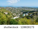 Looking out over St. Thomas, Virgin Islands - stock photo