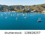 Looking out at Charlotte Amalie, St. Thomas, Virgin Islands - stock photo