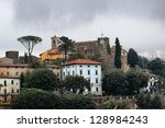 view of Montecatini Alto in Tuscany, Italy - stock photo