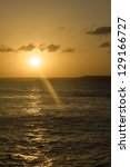 Sunset on the whater. Brazil - stock photo
