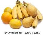 Yellow fruit  isolated on white background - stock photo