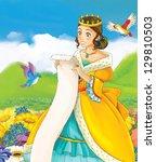 The fairy - Beautiful Manga Girl - illustration - stock photo