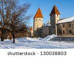 Tallinn old town, Estonia. Winter view - stock photo
