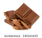 stack of chocolate - stock photo
