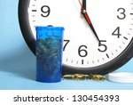 Its time to take the daily dose. - stock photo