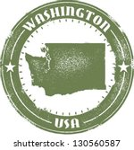 Washington State Stamp - stock vector
