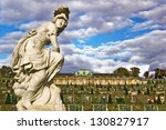 POTSDAM, GERMANY - OCTOBER 24: Sanssouci is the name of the former summer palace of Frederick the Great, King of Prussia, in Potsdam, near Berlin, October 24, 2006. - stock photo