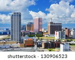 Resort high rises in Atlantic City, New Jersey. - stock photo