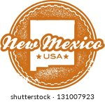 Vintage Style New Mexico USA State Stamp - stock vector
