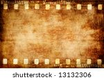 old grunge filmstrip - stock photo