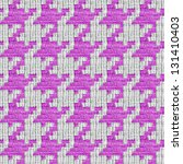 Pink and white seamless houndstooth pattern or texture. - stock photo