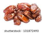 Heap Date (tropical fruit) isolated on white background - stock photo