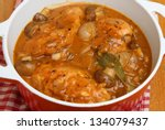 Chicken chasseur, classic French casserole. - stock photo