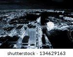 Tokyo city sky view at night - stock photo