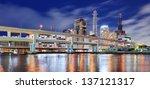 Kobe, Japan cityscape at the port. - stock photo