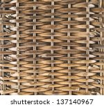 Wicker wooden basket texture as abstract background - stock photo