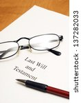 A will agreement for the deceased ones final arrangements. - stock photo