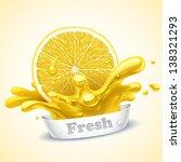 Juicy lemon - stock vector