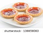 Strawberry Jam Tarts. - stock photo
