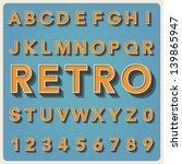 Retro type font, vintage typography ,Illustratiom EPS10 - stock vector