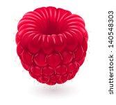 Realistic raspberries. Illustration on white background for design - stock vector