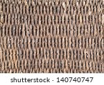 Twisted wickerwork surface background texture - stock photo