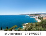 Mediterranean sea near the city of Nice, France - stock photo