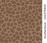 Coffee seamless pattern.  Vector retro background abstract. Coffee beans stylized silhouettes. - stock vector
