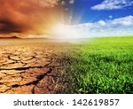 A global warming concept image - stock photo