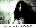 Horror scary woman  - stock photo
