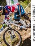 GOIS, PORTUGAL - JUNE 23: Marcio Ferreira during the 4th Stage of the Taca de Portugal Downhill Vodafone on june 23, 2013 in Gois, Portugal. - stock photo