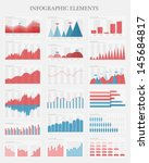 Vector flat design infographic elements collection. The collection includes various of vector infographic elements as bar charts, diagrams for data visualization. - stock vector