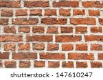 red vintage brick wall background  - stock photo