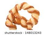 Freshly fancy pretzel baked. - stock photo