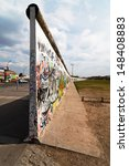 BERLIN - APRIL 19: the rest of the Berlin Wall that divided the city of Berlin from 1961 till 1989 on April 19, 2012 in Berlin. - stock photo