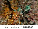 Zoomed Mosaic pattern of crystallized structure - stock photo