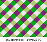 A cross-hatch pattern with four different colors set on a diagonal - stock photo