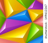Colorful polygons triangle shapes vector Background Abstract. Fun children style. Funny bright. - stock vector