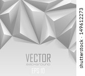 Background abstract triangle polygon trendy style.  White Vector wallpaper.  Copyspace for you logo or text. - stock vector