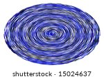 Swirl pattern of blue, black and white lines - stock photo