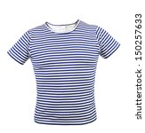 Striped vest T-shirt. Front. - stock photo