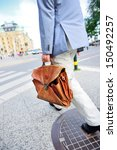 Business man on his way home - stock photo