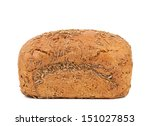 rye bread with caraway seed - stock photo