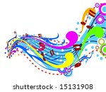 Music Wave - Vector - stock vector