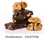Chocolate nuts - stock photo