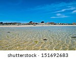 The harbor of Plouguerneau in the Bretagne in France - stock photo