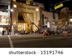 Hollywood & Highland Center is an entertainment, retail and hotel complex at Hollywood Boulevard and Highland Avenue in the Hollywood district in Los Angeles. - stock photo