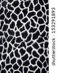 Giraffe texture in black and white - stock photo