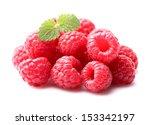Raspberry with melissa - stock photo